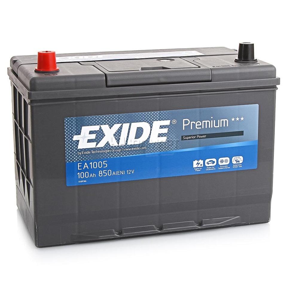 АКБ Exide EA1005 100A/h 850A
