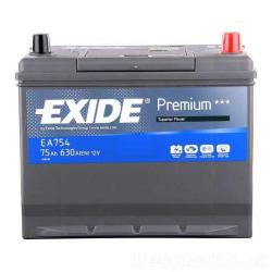 Exide EA754 75A/h 630A