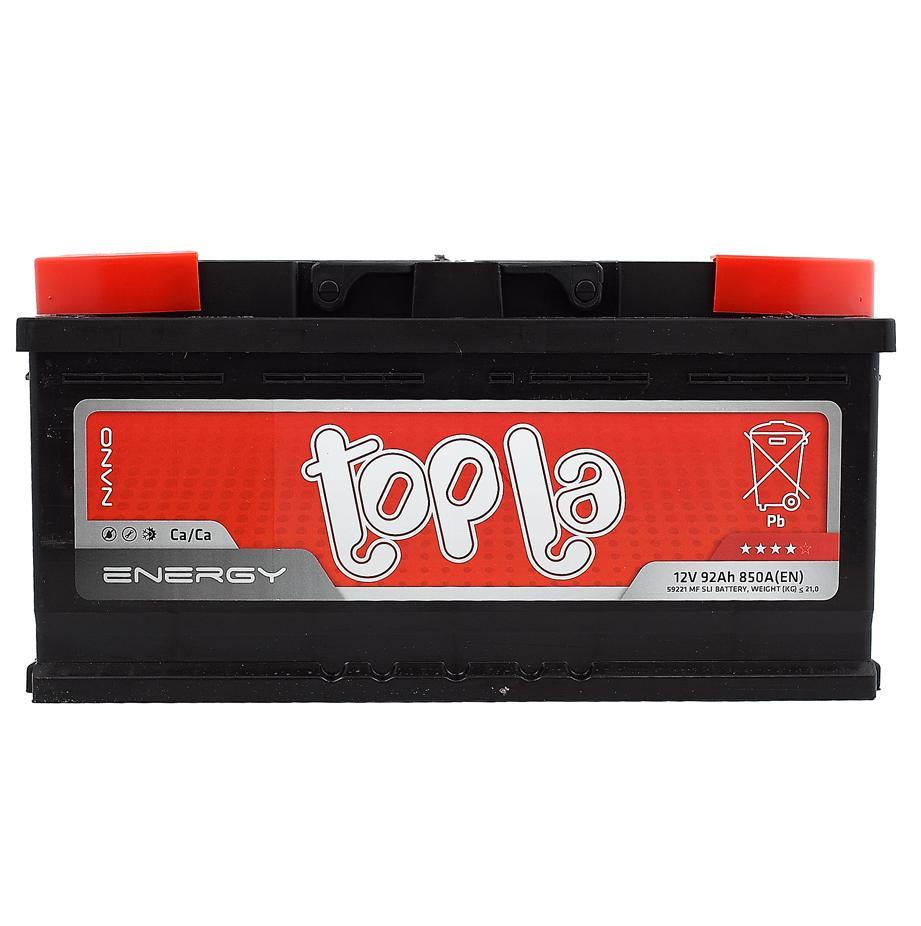Аккумулятор Topla 108092 92A/h 850A