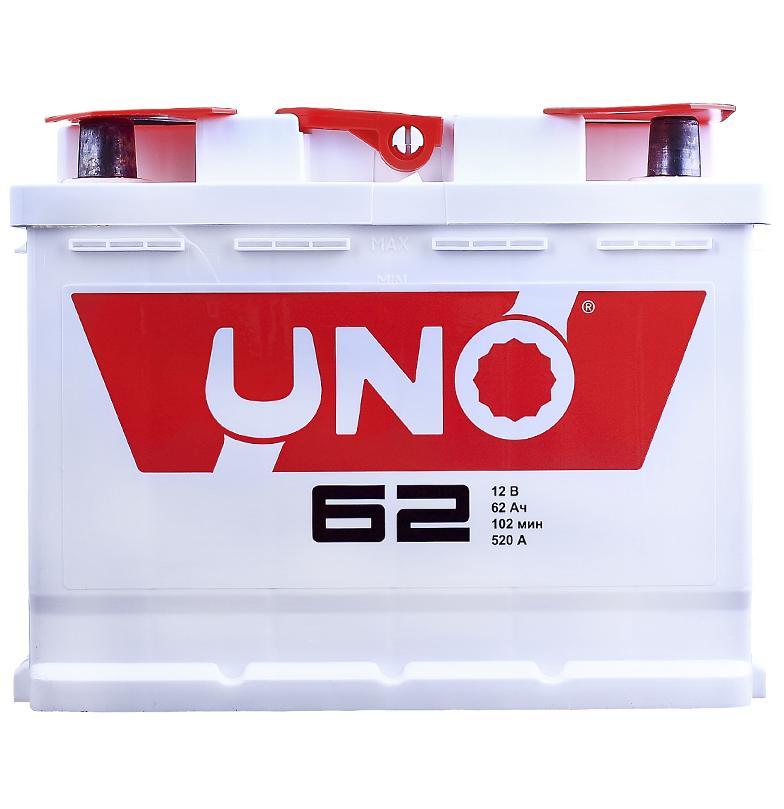 Аккумулятор Uno 6CT-62 62A/h 450A