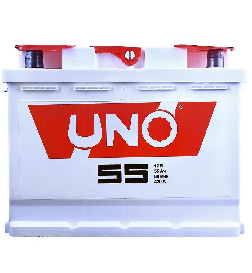 АКБ Uno 6CT-55 55A/h 410A