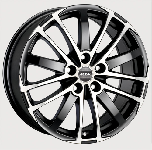 Диски ATS X-Treme Racing Black Front Polished 7.5x16 PCD 5x114,3 ET 45 ЦО 70.1