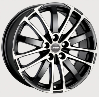 ATS X-Treme Racing Black Front Polished 7.5x16 5x114,3, ET45, ЦО70.1
