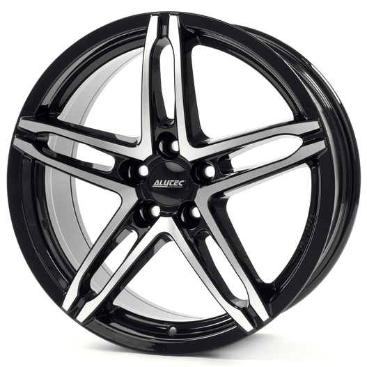 Диски Alutec Poison diamond black front polished 7x17 PCD 5x114,3 ET 38 ЦО 70.1
