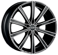 OZ Racing Lounge 10 MATT BLACK DIAMOND CUT 7.5x17 5x112, ET50, ЦО75.0