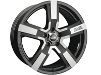 OZ Racing Versilia MATT BLACK DIAMOND CUT 8.0x19 5x112, ET48, ЦО75.0